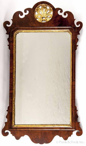Queen Anne mahogany mirror ca 1760