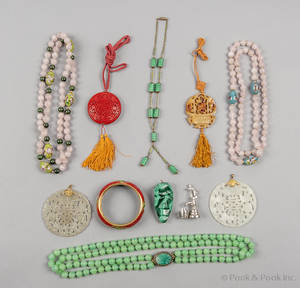 Grouping of carved jade