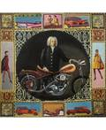 VALERY YERSHOV RUSSIAN B 1960 Bach with Motorcycle