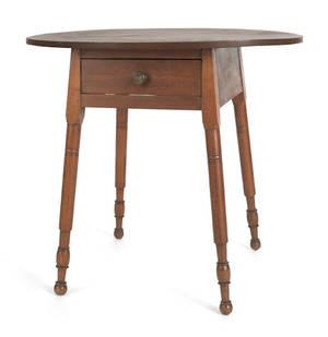 Pennsylvania oval top walnut tavern table