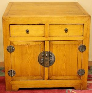 Chinese Wooden Scroll Chest