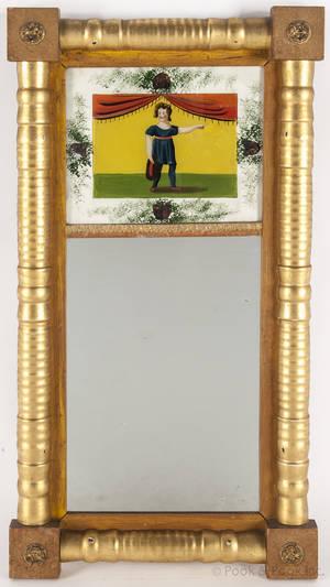 American Federal gilt mirror ca 1830