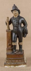 Pennsylvania chalkware figure of a fireman 19th c