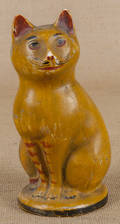 Pennsylvania chalkware cat 19th c