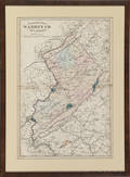 1852 map of Hunterdon County