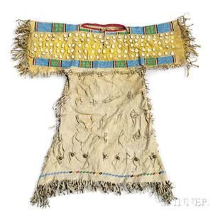 Southern Cheyenne Beaded Hide Childs Dress