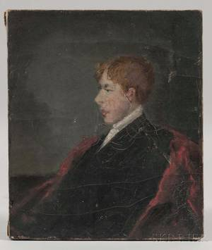 William Willard Massachusetts 18191904 Portrait of a Boy in Profile Probably the Artists Son