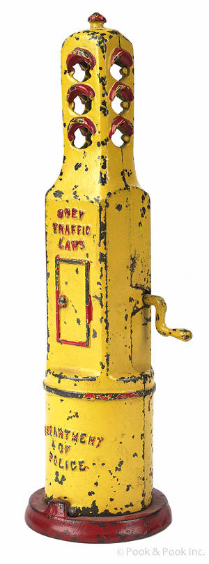 Grey Iron cast iron traffic light