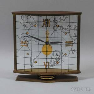 LeCoultre Brass and Lucite World Clock
