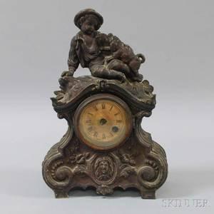 Terry Clock Co Figural Mantel Clock