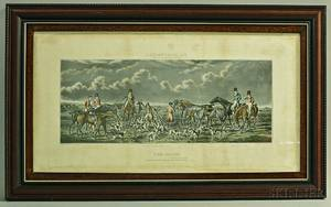 Three Framed Handcolored Leicestershire Hunt Engravings