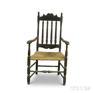 Blackpainted Bannisterback Armchair