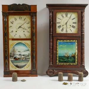 Two Connecticut Shelf Clocks
