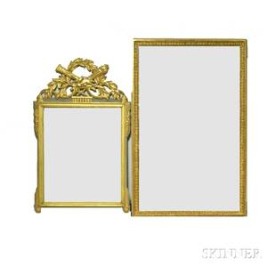 Neoclassicalstyle Gilt Mirror and a Giltframed Mirror