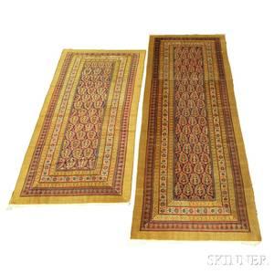 Two Persian Long Rugs