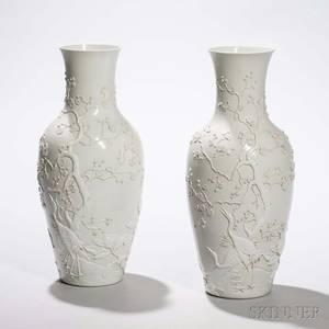 Pair of BlancdeChine Vases
