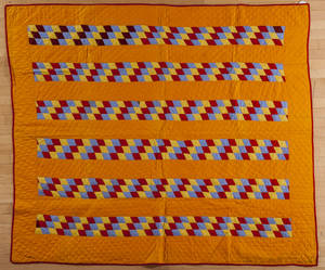 Berks County Pennsylvania cheddar bar quilt late 19th c