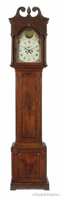 Pennsylvania Chippendale walnut tall case clock ca 1800