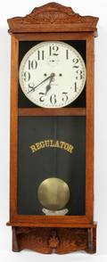 NEW HAVEN WALL REGULATOR CLOCK EARLY 20TH C