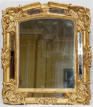 ITALIAN GILT WOOD MIRROR C1900