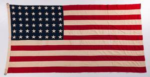Vintage 48 Star Hand Sewn Riveted American Flag