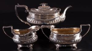 George IV Three Piece Sterling Tea Service