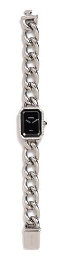 A Chanel Quartz and Stainless Steel Chain Link Watch