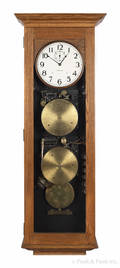 International Time Recorder oak hanging clock