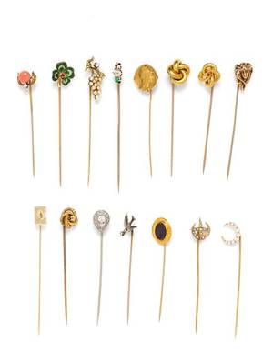 A Collection of Vintage Stickpins