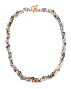 An 18 Karat Yellow Gold and Multicolored Sapphire Bead Necklace Robin Rotenier