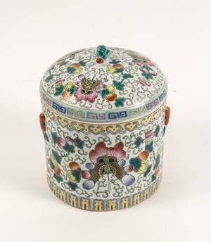 Chinese Famille Rose Porcelain Lidded Jar