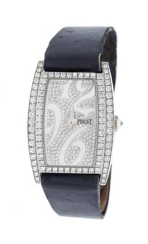 An 18 Karat White Gold and Diamond Limelight Wristwatch Piaget