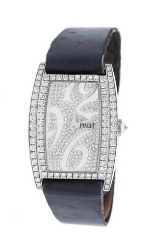 An 18 Karat White Gold and Diamond Limelight Wristwatch Piaget