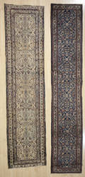 Two semi antique oriental runners