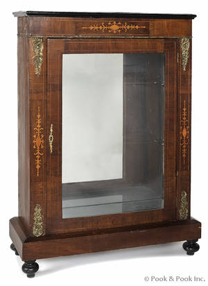 Georgian inlay mahogany display cabinet