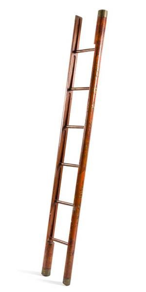 A Regency Style Lacquered Folding Library Ladder