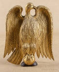 Federal carved and gilt pine eagle