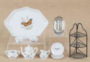 Miniature Limoges tea service