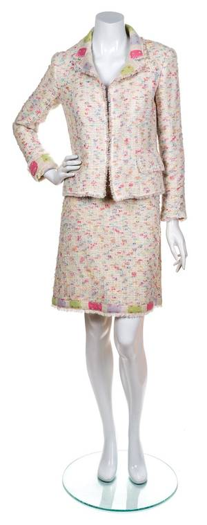 A Chanel Pink Funfetti Skirt Suit