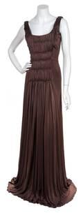 An Alberta Ferreti Brown Dress