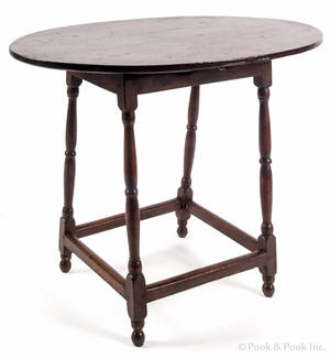 New England pine tavern table ca 1770