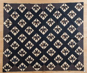 Pennsylvania Maple Leaf pieced quilt late 19th c