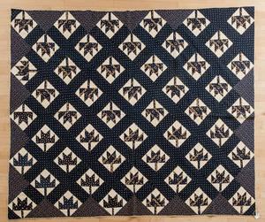 Pennsylvania Maple Leaf pieced quilt late 19th c