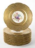 Set of twelve Heinrich  Co Bavarian porcelain cabinet plates