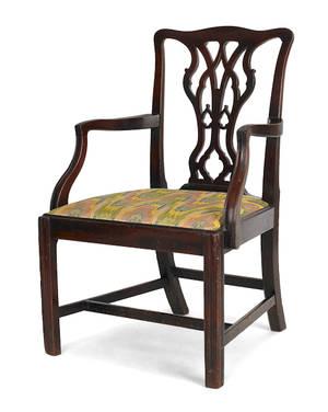 George III mahogany armchair