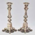 Silver sabbath candlesticks