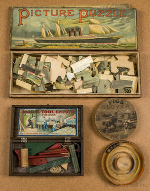 McLoughlin Bros  Picture Puzzle  with a steamship