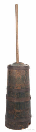 Painted pine butter churn