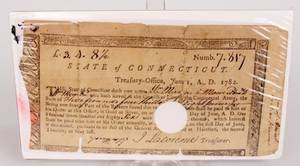 18th C Conn Document  3 Lincoln Items