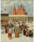 KONSTANTIN KONSTANTINOVICH KUZNETSOV RUSSIAN 18951980 Winter Market